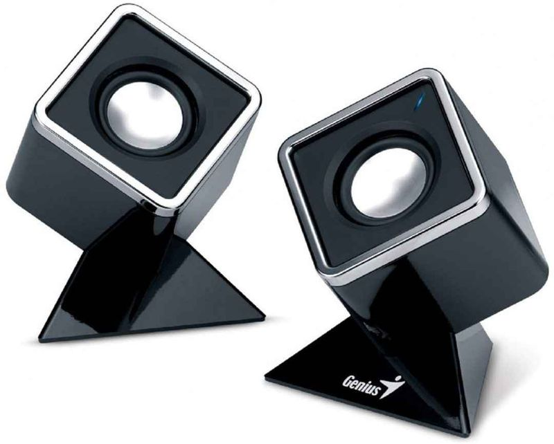 Genius SP-D150 Cubed Stereo Speakers Black