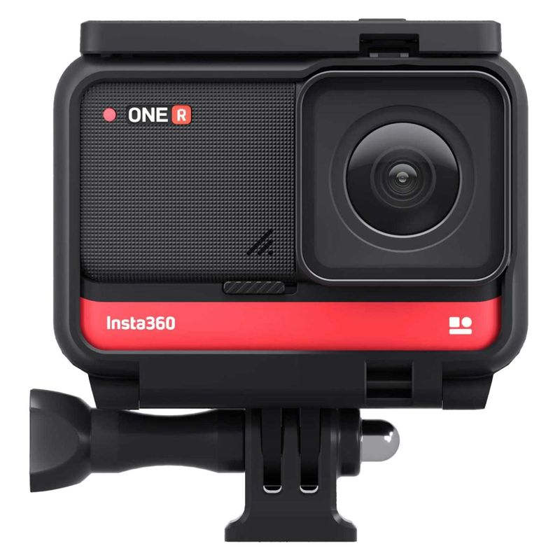 Insta360 ONE R 4K Edition Anti-shake Sports Action Camera 4K Wide Angle Lens Supports FlowState Stabilization 5M Body Waterproof Hyperlapse Voice Control Slow Motion Night Shot HDR Photo Video